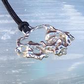 Fused Silver Pendant