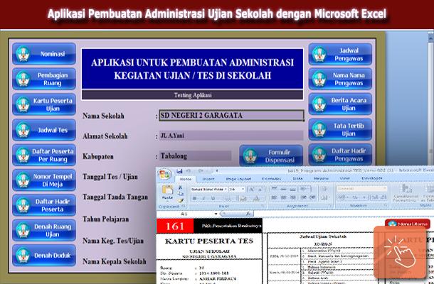 Aplikasi Pembuatan Administrasi Ujian Sekolah Ulangan Harian, UKK, US dan UNAS dengan Microsoft Excel