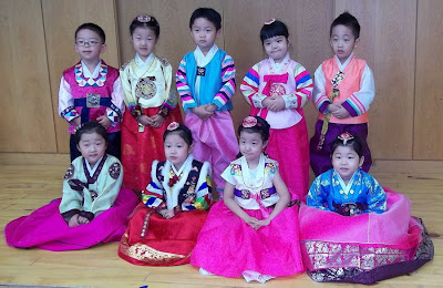 Children wearing Hanbok in Chuseok