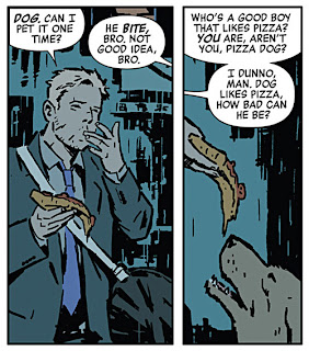 Pizza Dog, David Aja, Hawkeye #1 [Hawkeye: My Life as a Weapon]