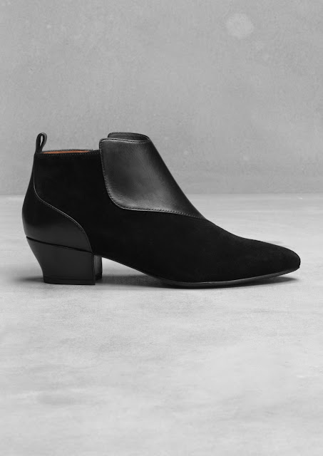 slim leather ankle boots