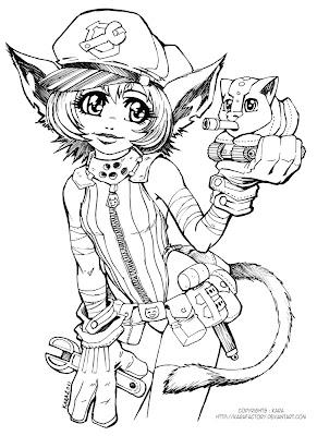 dessin de chat mignon les filles da coté sexy