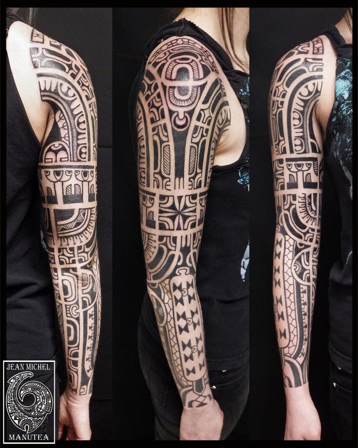 tatouage polynesien polynesian tattoo tahiti tattoo polynesian tribal. Black Bedroom Furniture Sets. Home Design Ideas