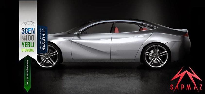Coupe tasarımlı ilk yerli sedan otomobilimiz; Sapmaz Cars'tan 3Gen Sedan