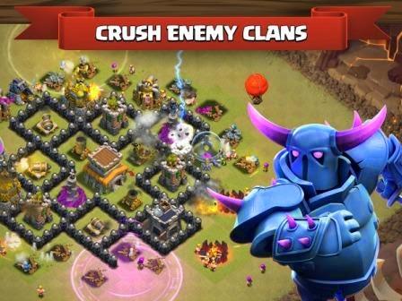 Tampilan game clash of clans yang dijalankan pada PC atau laptop menggunakan bluestacks