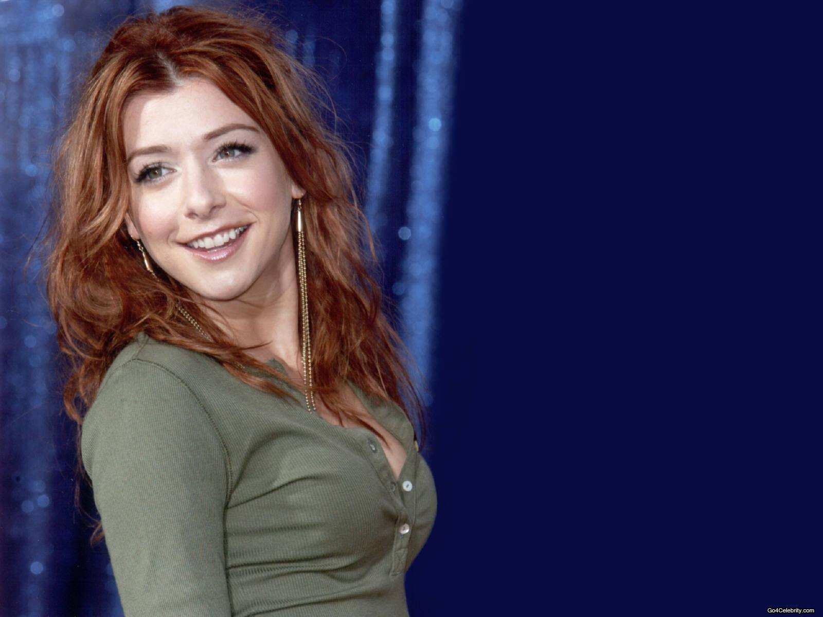 American Actress, Television Celebrity Alyson Hannigan Wallpapers