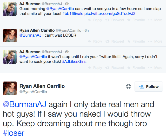 BBCAN AJ Burman Fight Twitter