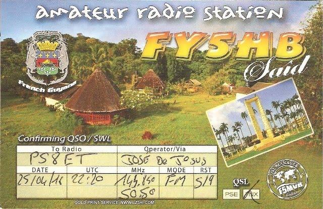 QSL da Guiana Francesa - SO50