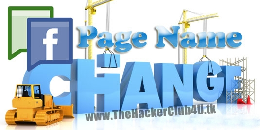 how to change page name on facebook pc