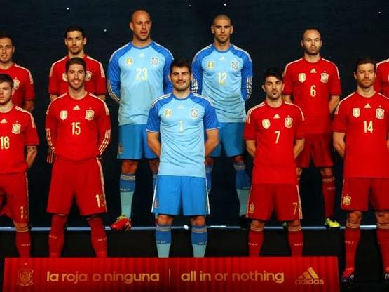 equipación Selección Española Mundial 2014 opinión de los jugadores de la Roja sobre la camiseta