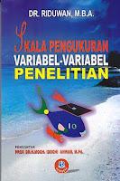 toko buku rahma: buku SKALA PENGUKURAN VARIABEL-VARIABEL PENELITIAN, pengarang riduwan, penerbit alfabeta