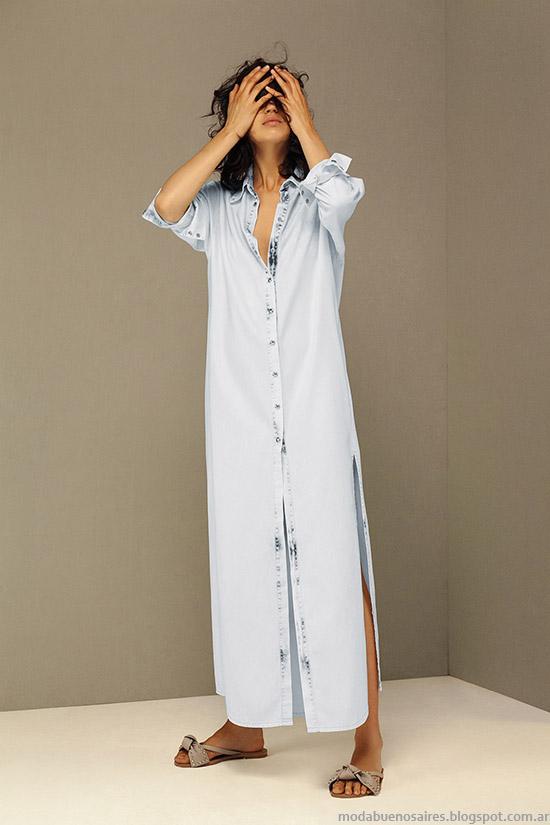 Vestidos camiseros largos verano 2016 María Cher.