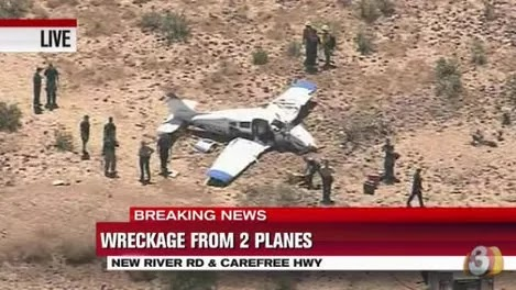 Planes Collide Above Arizona, Killing 4 on board