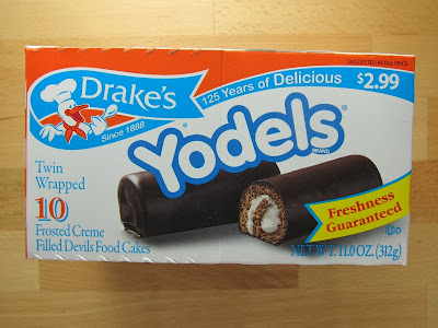 Drake's Yodel snack cakes feature devil's food cake rolled up with a ...