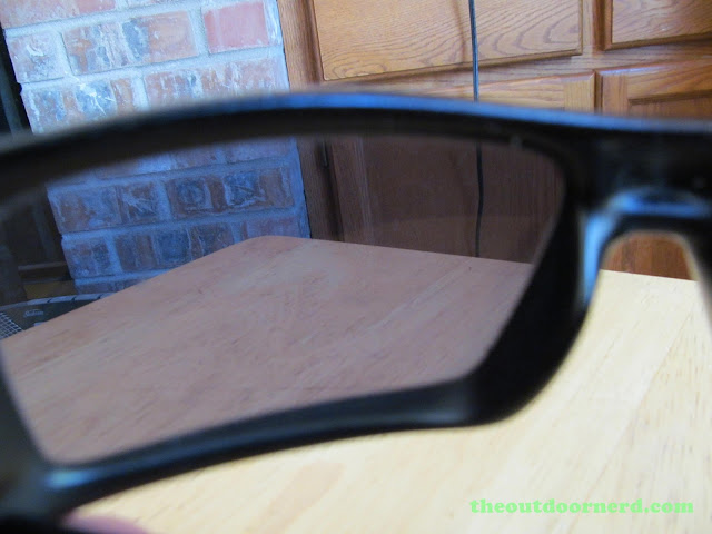 Oakley GasCan Sunglasses: Looking Through Lenses Indoors