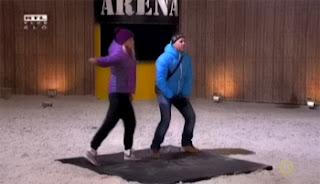Attila és Kinga az Arénában