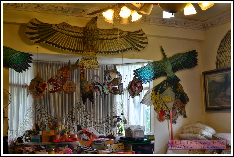 小木屋接待中心之風箏裝飾