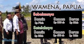 Jeniusnya Jokowi buat Harga di Wamena, Papua 50 Persen Lebih Murah