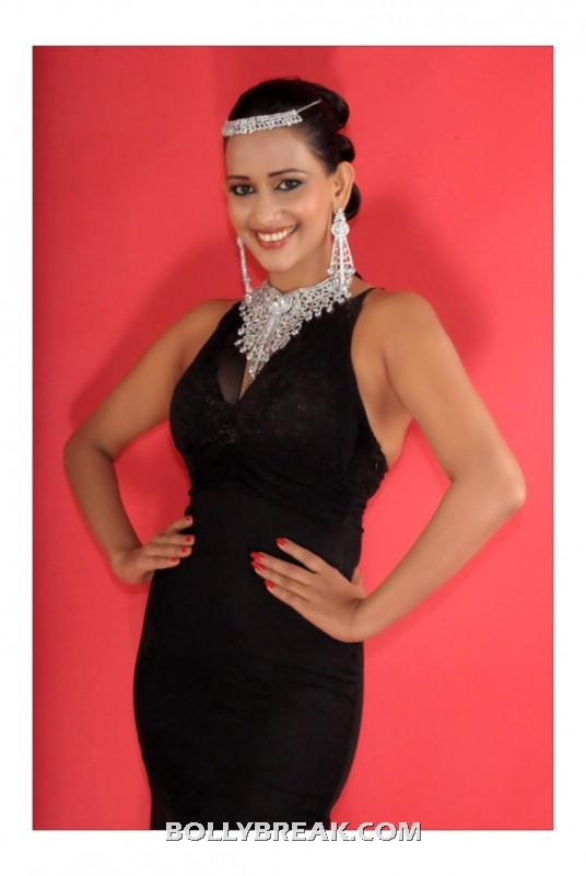 Sanjana singh Black dress  - (2) -  Sanjana singh new photo shoot