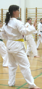 TAEKWONDO.. .got the green belt now...and a pretty sore left knee