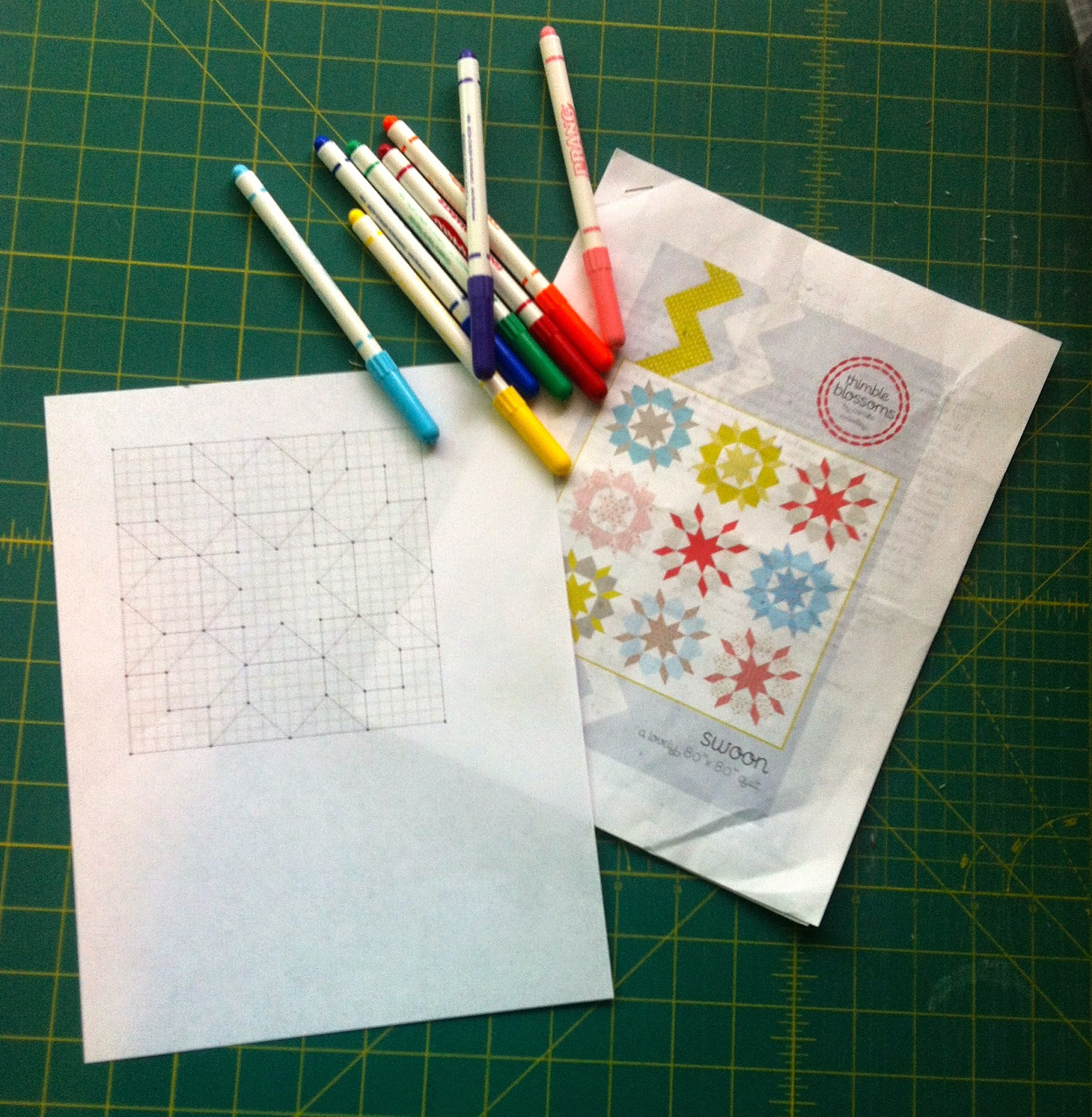 purple poppy quilts: Scrappy Spectrum Swoon