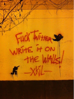 fuck twitter, fuck twitter write it on the walls