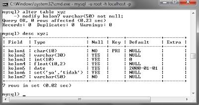 122 MySQL dengan menggunakan Command Prompt (CMD)