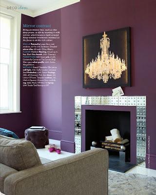 Decoración de Interiores con color Púrpura Morado