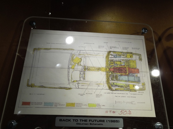 Back to the Future DeLorean schematic