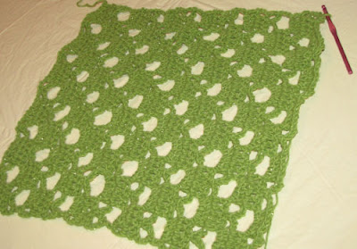 crocheted lacy square