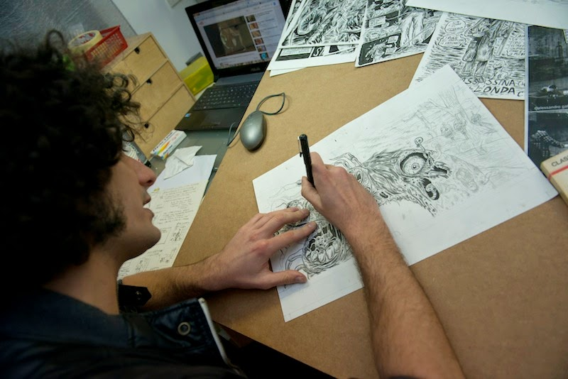 http://www.fumettologica.it/2014/05/nello-studio-di-ivan-hurricane-manuppelli/