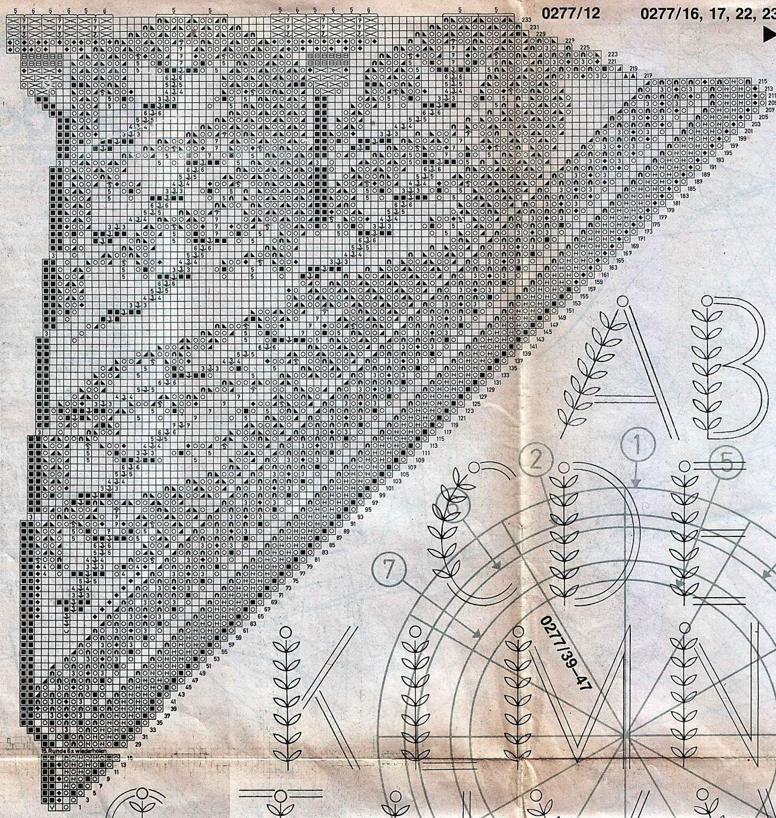 Вязаные салфетки спицами 52