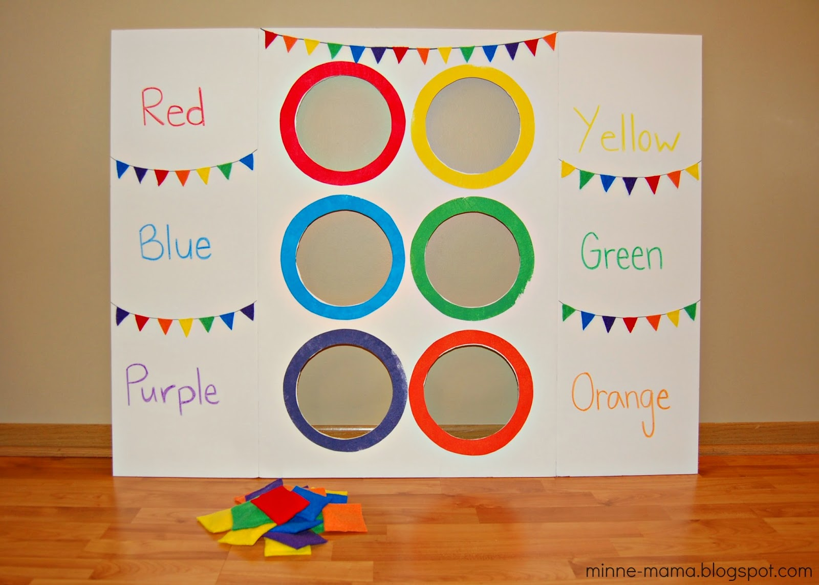 minne mama color toss activity with video - Color Activity