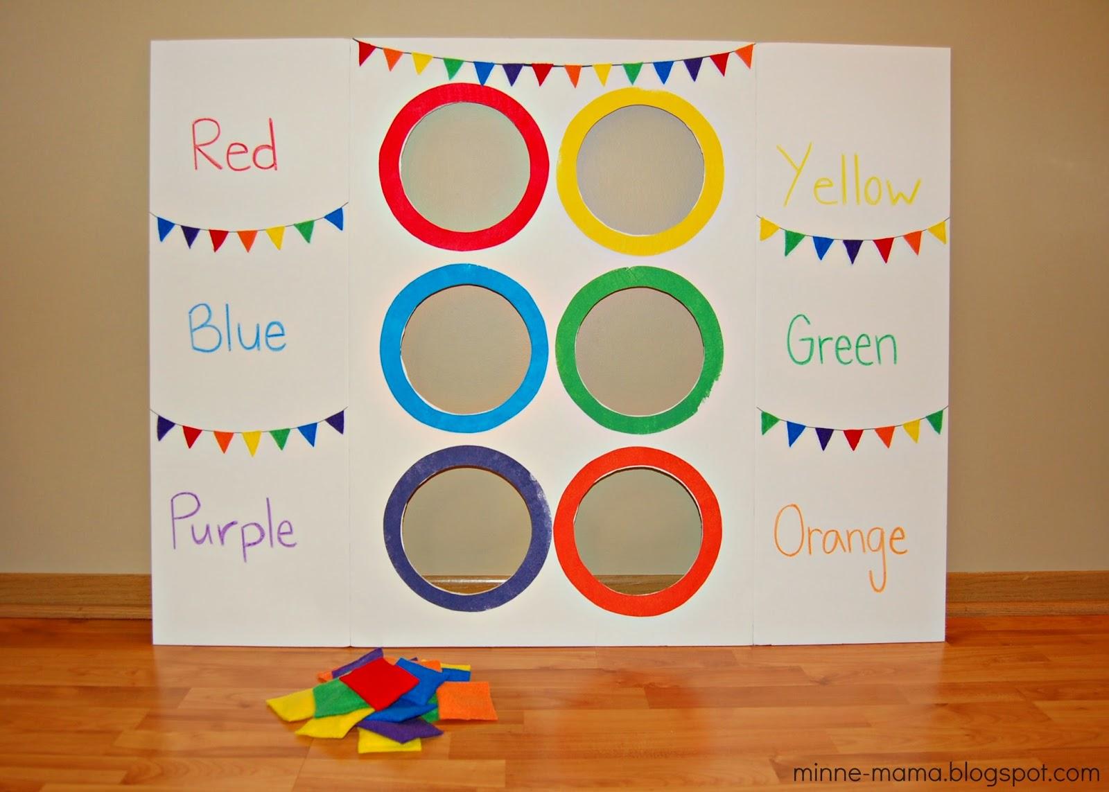 Minne mama color toss activity with video for Actividades para el jardin de infantes