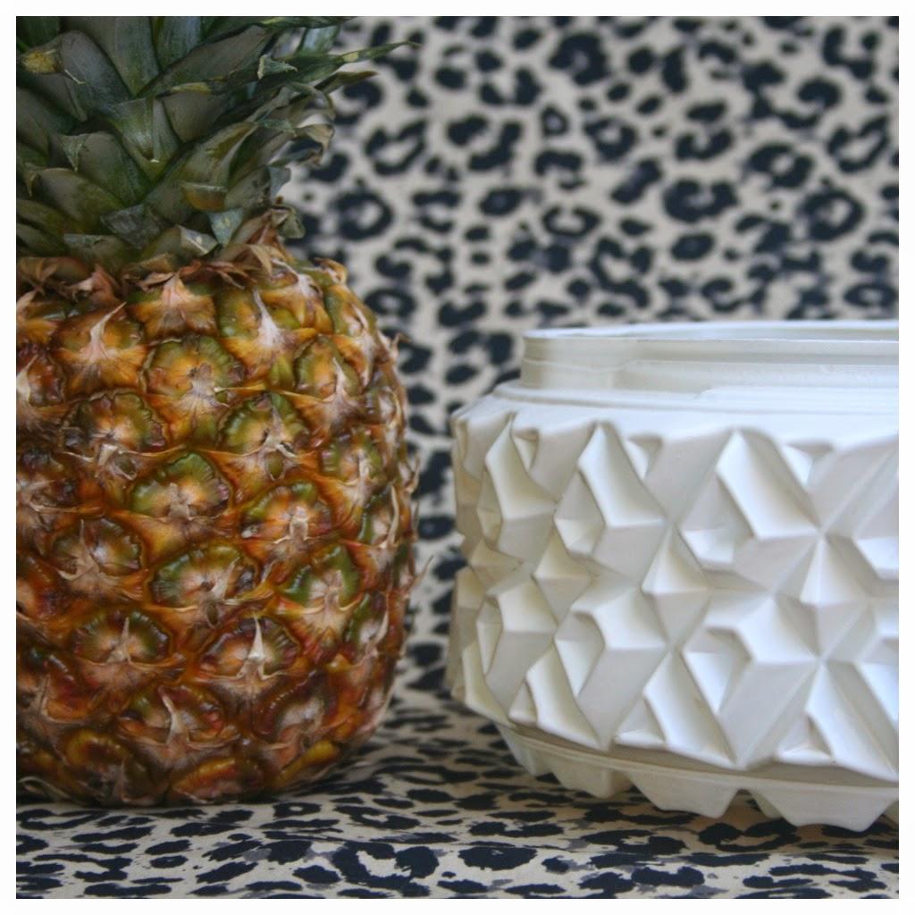 verre motif ananas