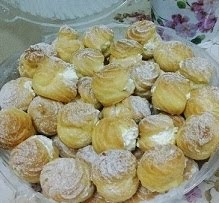 Creampuff with vanila creme custard 50 pcs@RM35(custard) 50 pcs @ RM40 (cheese)