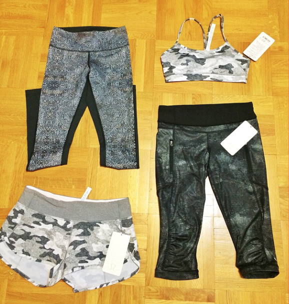 lululemon camo flow y speed shorts run crops