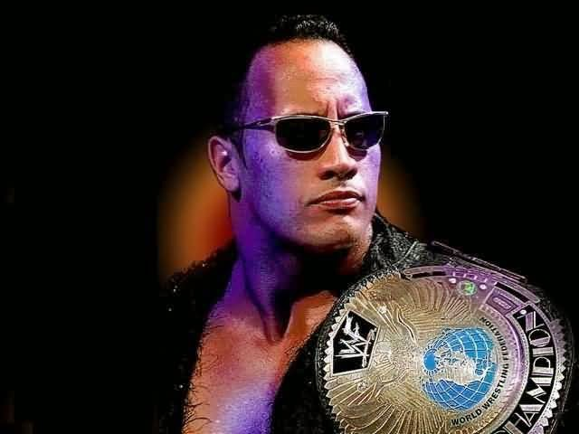 WWE The rock wining images photos