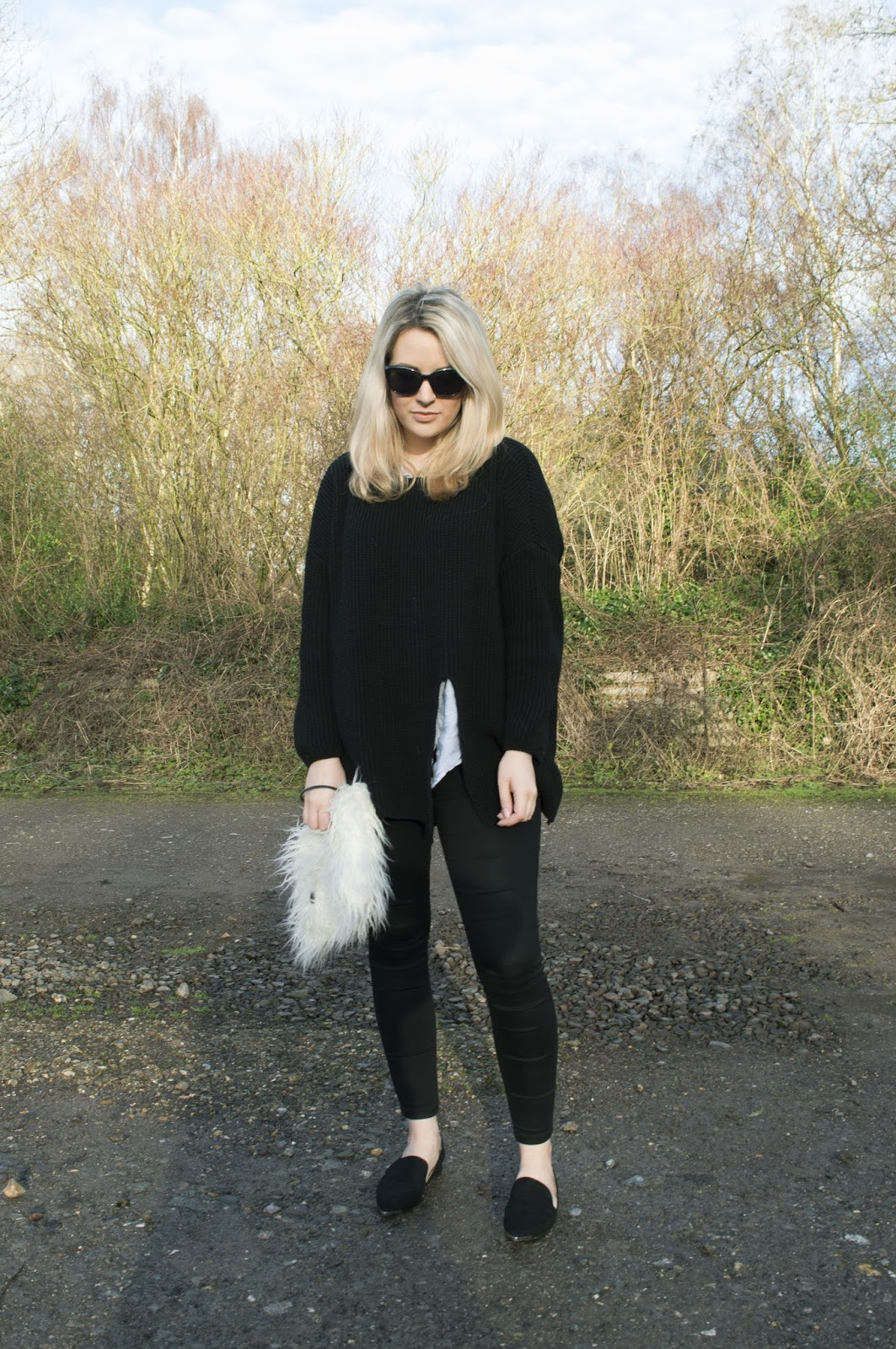 diary of a brit girl outfit chunky knit