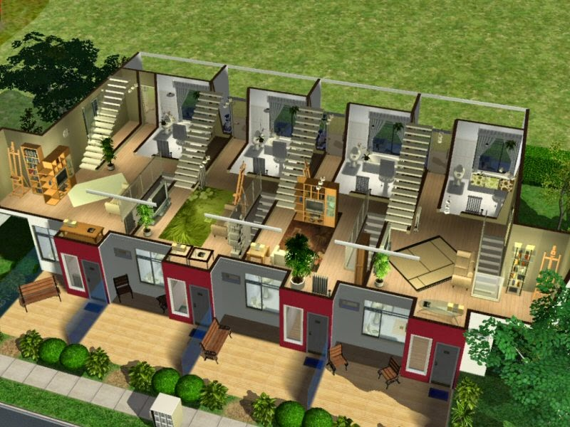 simplified sims 2 haus pms hills 9. Black Bedroom Furniture Sets. Home Design Ideas