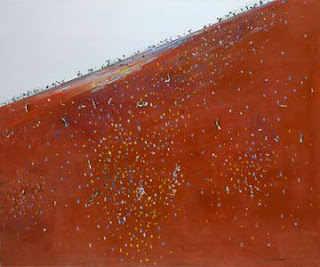 Iron Ore Landscape - Fred Williams painting