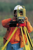 A surveyor doing survey