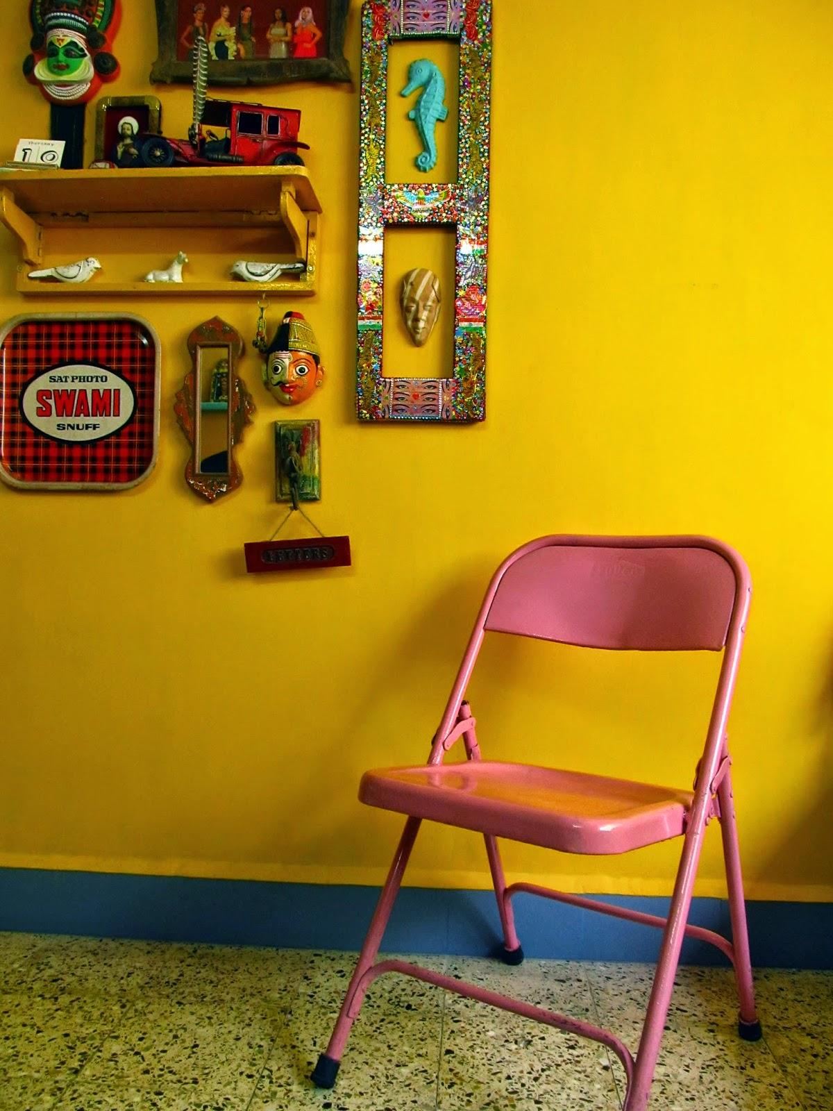 painted metal chair