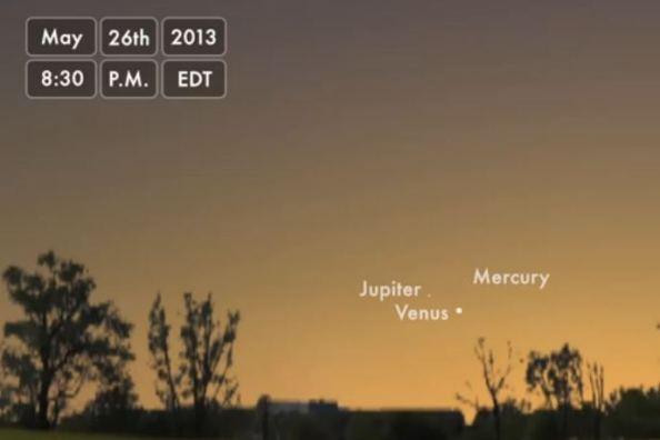 Τριπλή σύνοδος πλανητών στις 26 Μαΐου