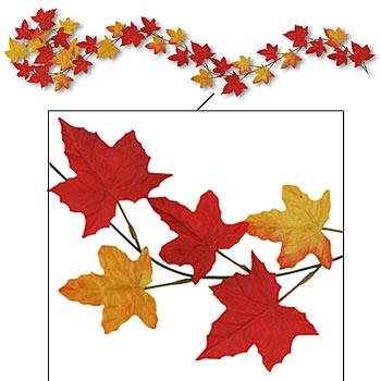 String Lights Leaves : Autumn Lights Picture: Autumn Leaves Garlands