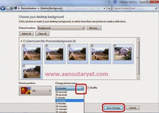 Cara Mudah Mengganti Background Desktop Pada Windows 7