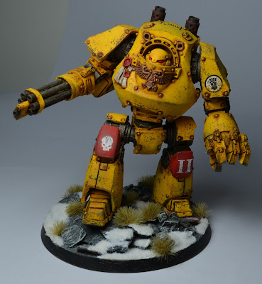 Pre-Heresy Imperial Fists Contemptor Dreadnought