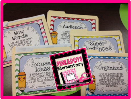 http://www.teacherspayteachers.com/Product/Writing-Goals-and-Worksheets-to-get-you-through-the-Writing-Process-1465259