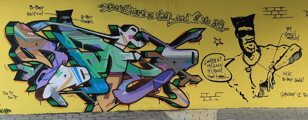 Fat Cap magazine: Schoolly d tribute wall by Romeo & Mega DNS crew 2011