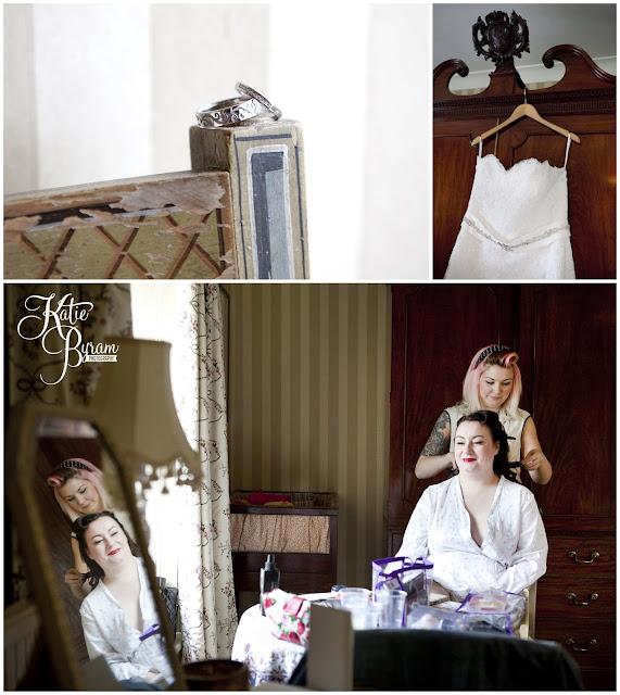vintage wedding, high house farm brewery wedding, katie byram photography, diabalo rose, vintage make up wedding, unusual wedding rings,